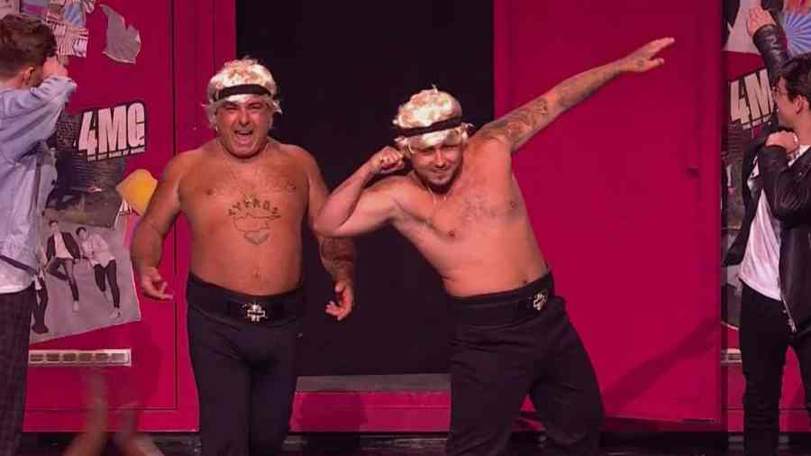 Britain's Got Talent 2019 live show 2 - Stavros Flatley make cameo appearance during 4MG's performance