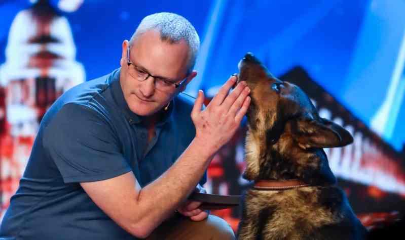 Magic dog act Dave and Finn