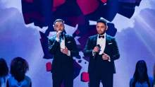 Singing duo Richard and Adam.