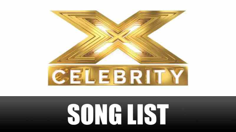 x factor celebrity song list choices songs