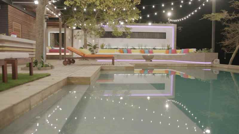 Casa Amor: Pool area and fire pit.