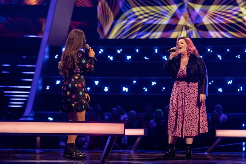 Team Meghan: Holly Scally and Trinity-Leigh Cooper perform.