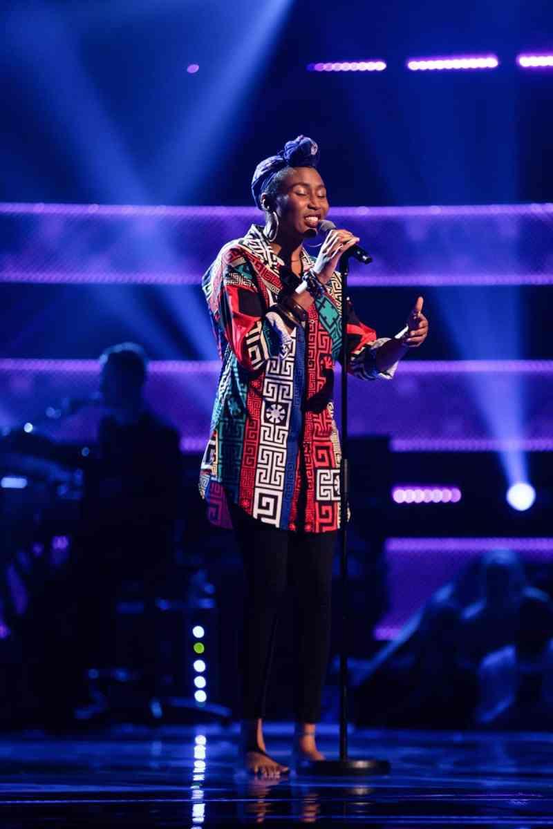 Vivienne Isebor performs.