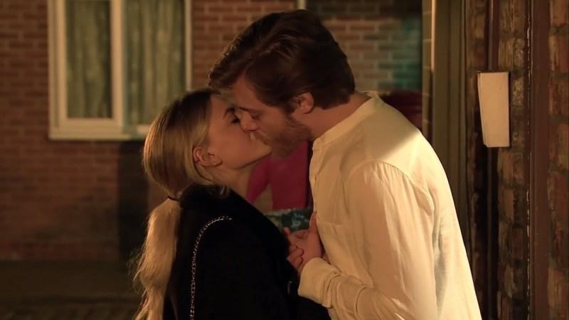 corrie kissing
