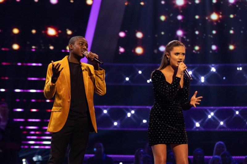 Team Will: Gevanni Hutton and Shauna Byrne perform.