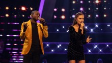 Team Will: Gevanni Hutton and Shauna Byrne perform.