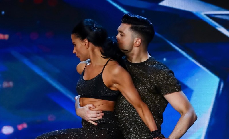 BGT contestants: Aaron and Jasmine.