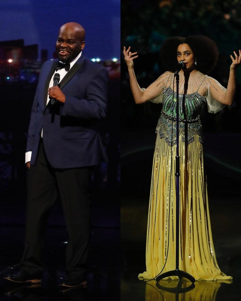 Daliso Chaponda (L) and Celeste (R). Picture: ITV/Matt Frost
