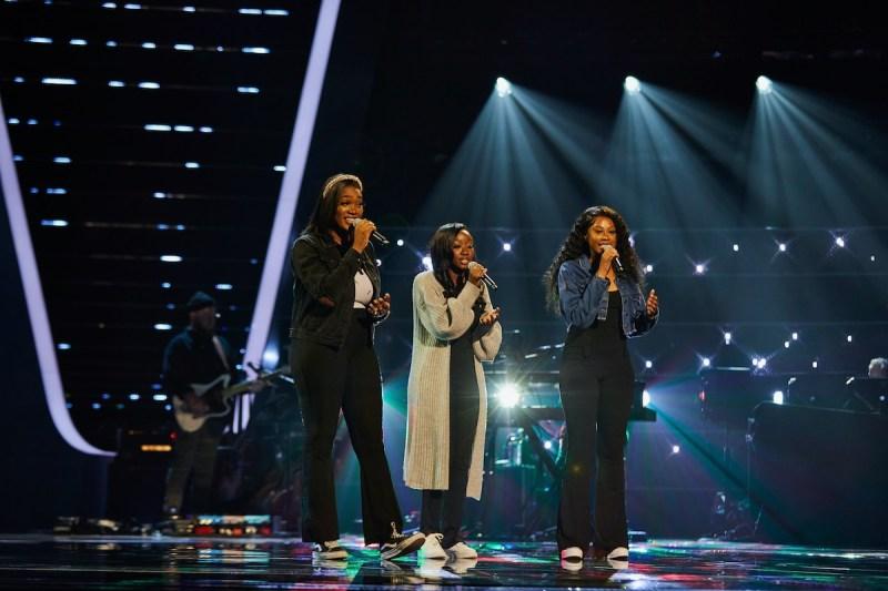 Psalm Harmony [Chelsea, CJ and Emmanuella] perform.