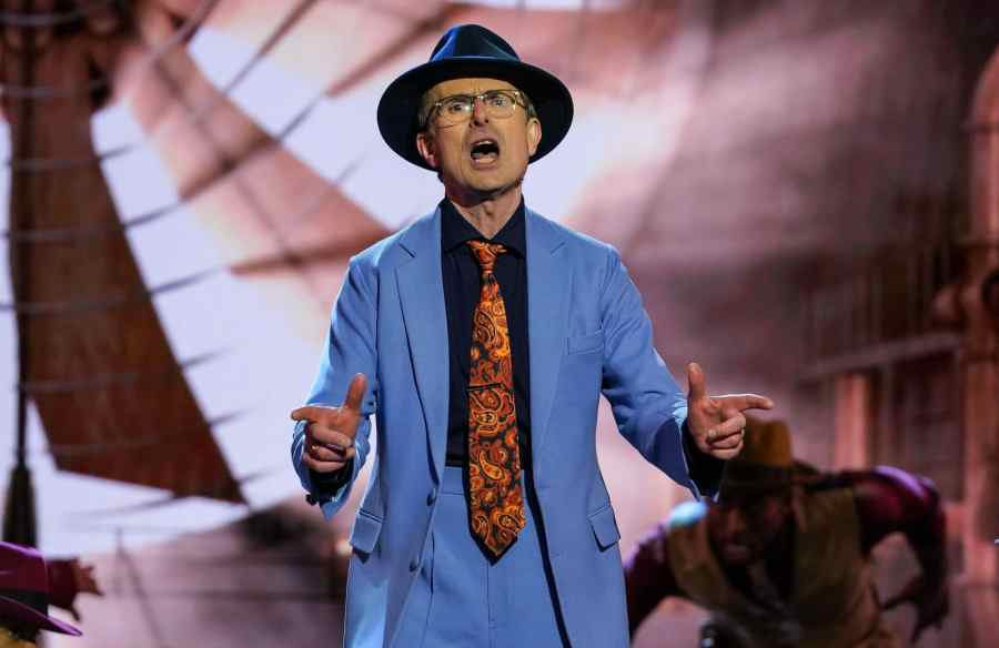 Robert Peston performs Luck be A Lady from Guys and Dolls.
