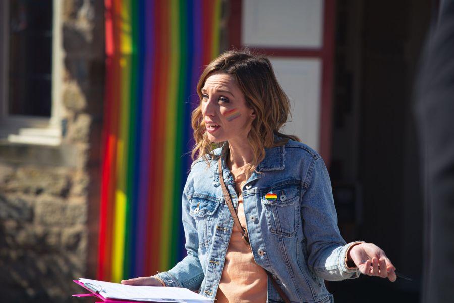 Emmerdale's Pride Celebration. Picture: ITV