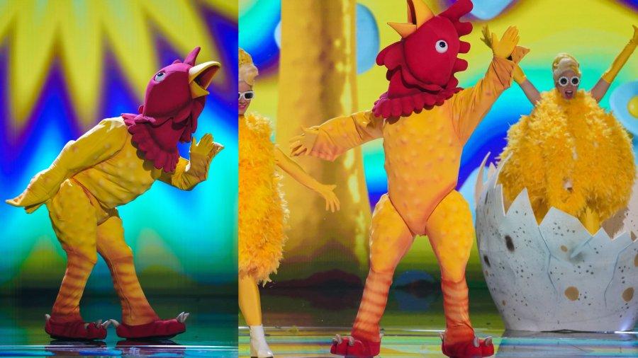 Rubber chicken.  Image: ITV / © Bandicoot TV