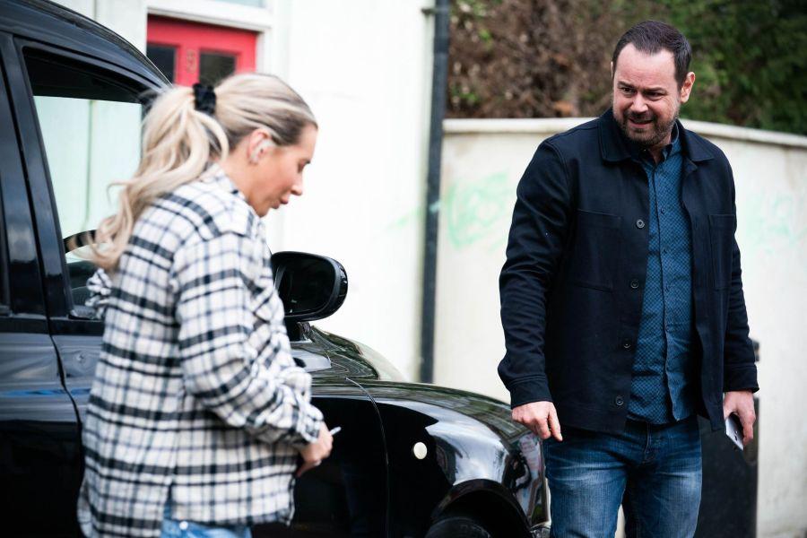 Jeanette (DANI DYER), Mick Carter (DANNY DYER) - (C) BBC - Photographer: Kieron McCarron/Jack Barnes