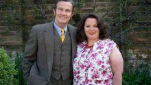 The Larkins on ITV and ITV Hub Pictured: Pop Larkin [Bradley Walsh] and Ma Larkin [Joanna Scanlan].