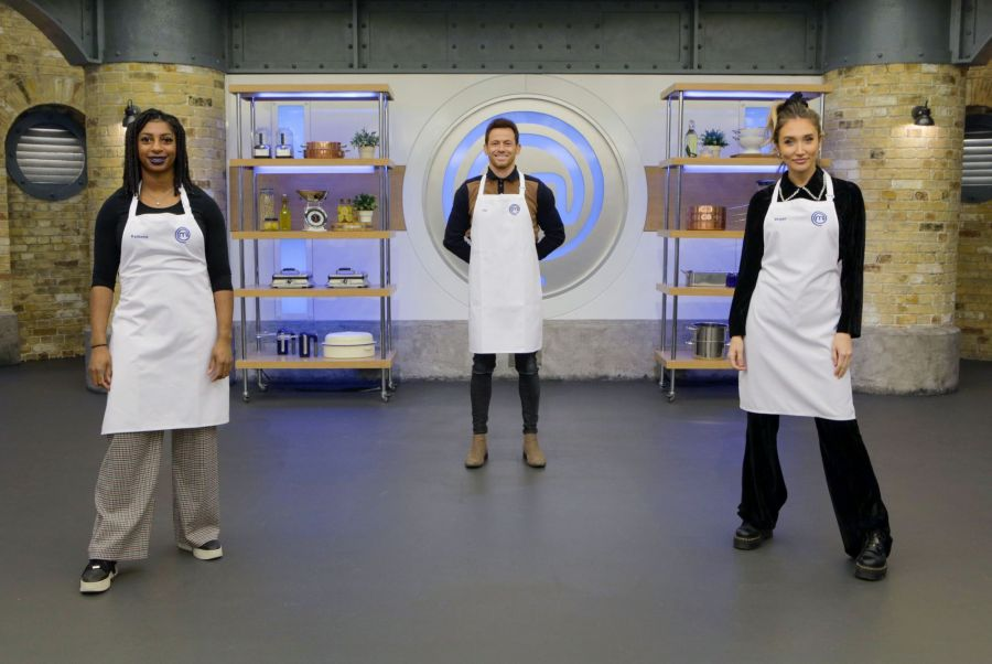 Celebrity MasterChef final: Kadeena Cox, Joe Swash, Megan McKenna - (C) Shine TV - Photographer: Production