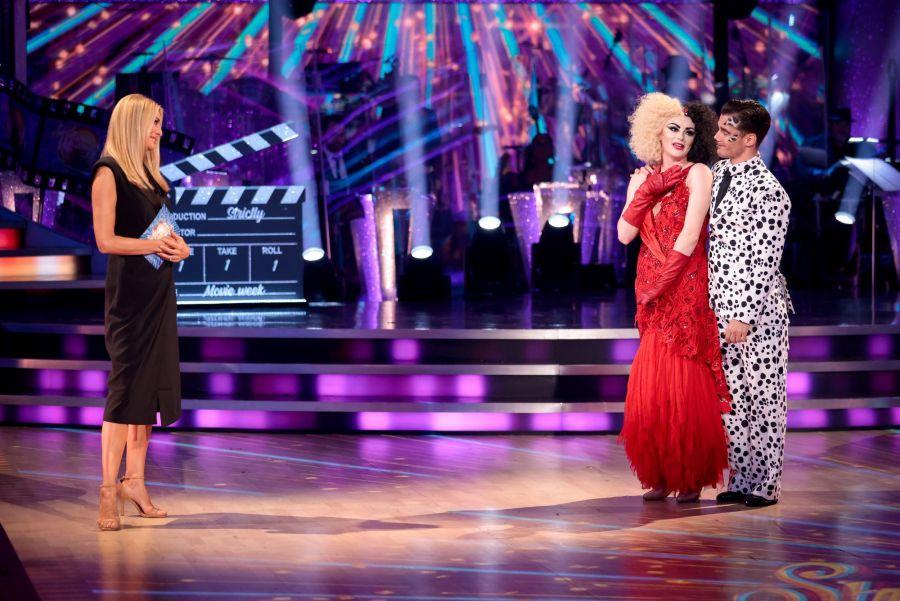 Tess Daly, Katie McGlynn, Gorka Marquez - (C) BBC - Photographer: Guy Levy