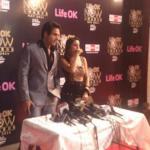 Paakkhi and Anshuman addressing the media