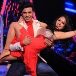 Puja dances sensously with her partner Rajit on Karan Johar's movie  songs