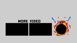 YouTube 終了画面 炎
