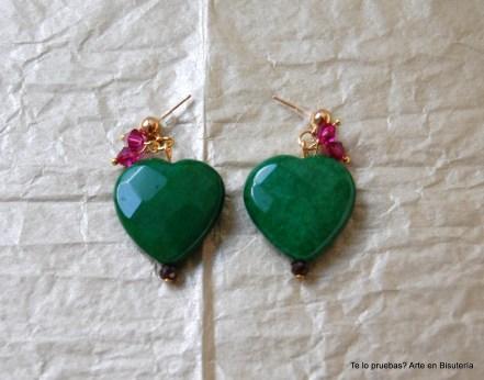 pendientes green heart 16,95 euros