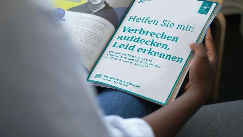 Anzeige Missbrauchsgutachten Missbrauchs Studie Bistum Aachen in einer Mockup Ansicht