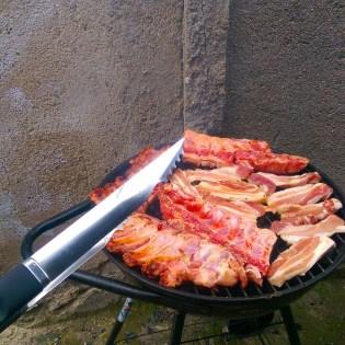 La carne en el asador