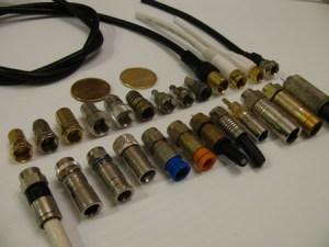 varios tipos de conectores F