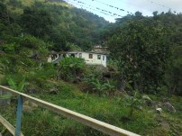 Houses tucked away in the mountains