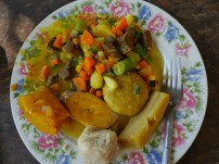 Colourful ital food prepared with love