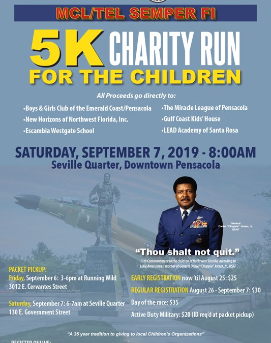 5k races near me | TEL MCL 5k Semper Fi 5k Charity Run | September 7 2019 | Pensacola FL