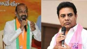 BJP leaders' meeting with KTR .. Bhagyumantunna Bandi Sanjay .. How do you meet without the knowledge of the President ..?  |  bandi sanjay serious on party leaders meet with ktr and appointed committee to find who is behind them