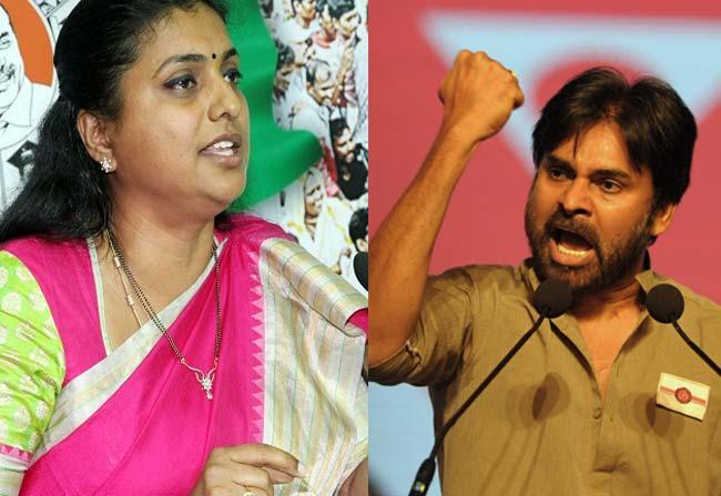 roja targeting janasena chief pawan kalyan with political comments
