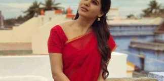 Samantha New Look In Half Saree