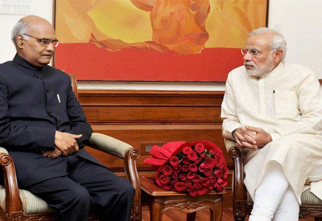 pm modi instruction to indian president ramnath kovind
