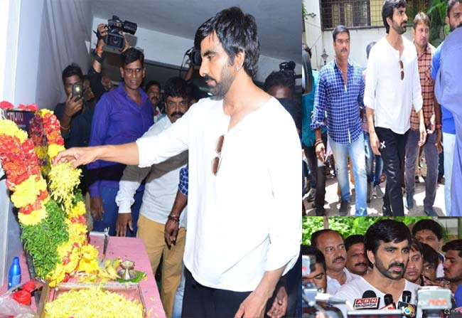 Ravi Teja Pays Homage To His Brother Bharath