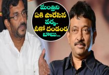 RGV Sensational Counter Attack To Ap minister somireddy chandramohan