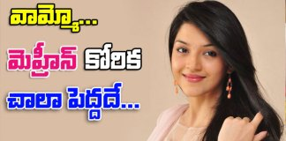 mehreen pirzada want to do movie with tollywood Top Heros