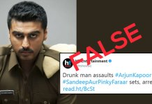 Arjun Kapoor says Drunk man does not attack me