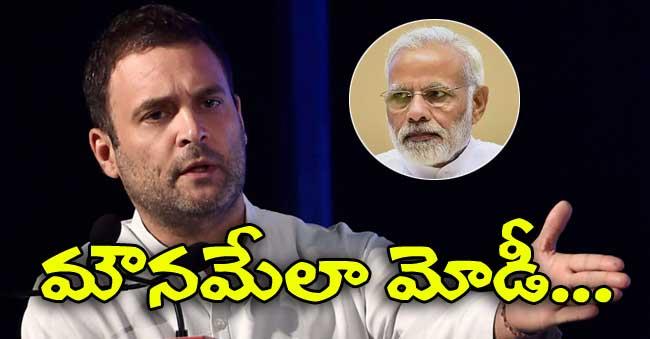 Rahul Gandhi Targets Modi for Silence