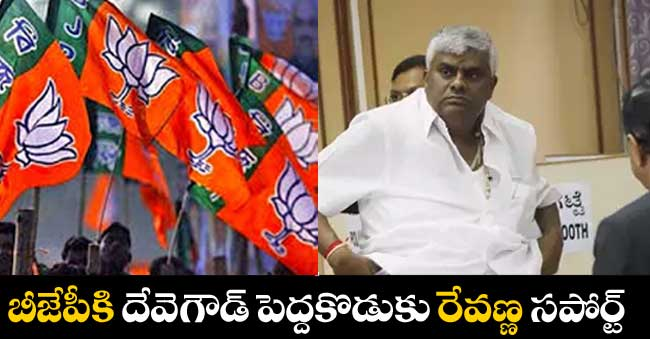 Deve Gowda Elder son Revanna supporting on bjp party