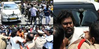 war of words between BJP and TDP over Stones pelting on Amit Shah Convoy