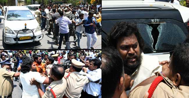 war of words between BJP and TDP over Stones pelting on Amit Shah Convoy