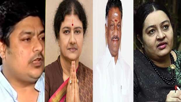 seshikala and panneer selvam following jayafamily members