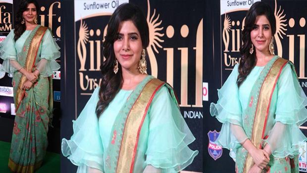 samantha wearing saree special in IIFA awards