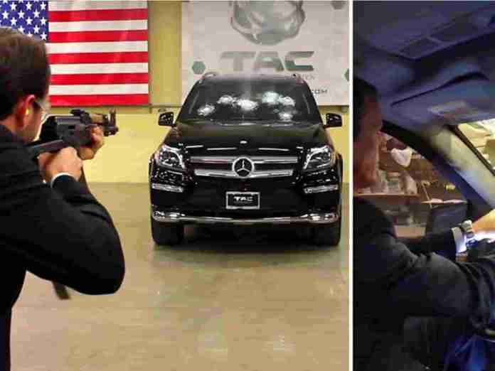 CEO Testing Car With AK-47