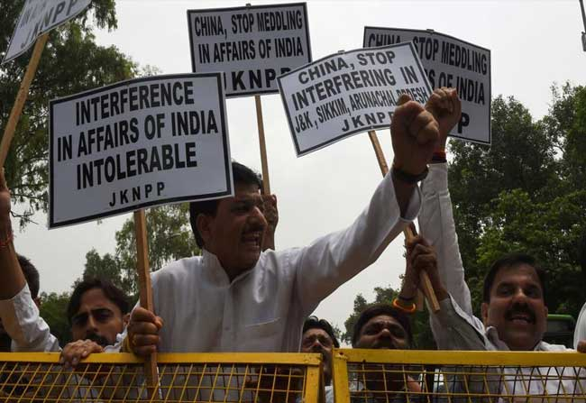 Anti China Slogan in Ganesh Procession