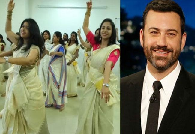 Jimmy Kimmel Retweets Jimikki Kammal Song
