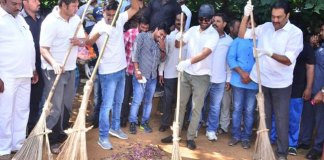 Mahanubhavudu Movie Team in Swachh Bharat Event