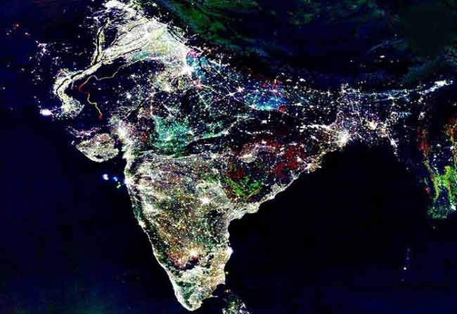 Indian Space Photo Of Diwali 2017