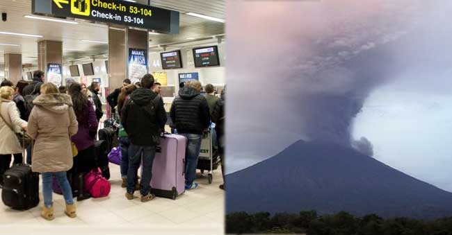 Flash! Flash! Volcano Erupts in Bali, Indonesia Airport Close Thousands of foreigners stranded
